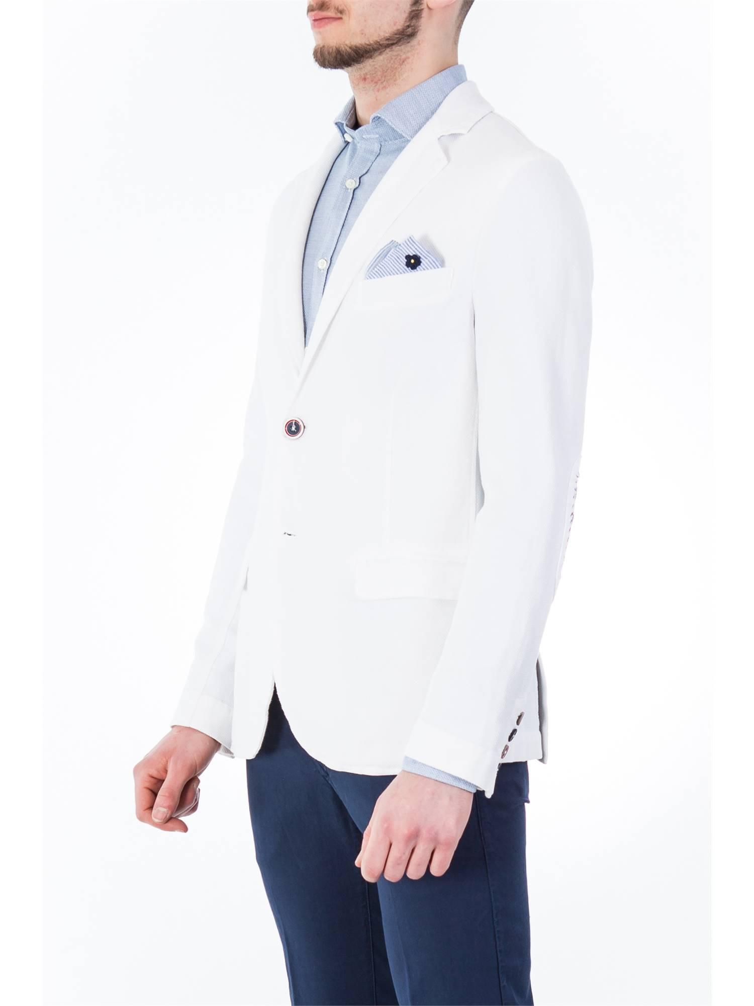 Bob Uomo DAN R356 B.CO Bianco Giacca Uomo Primavera//Estate 100/% Cotone