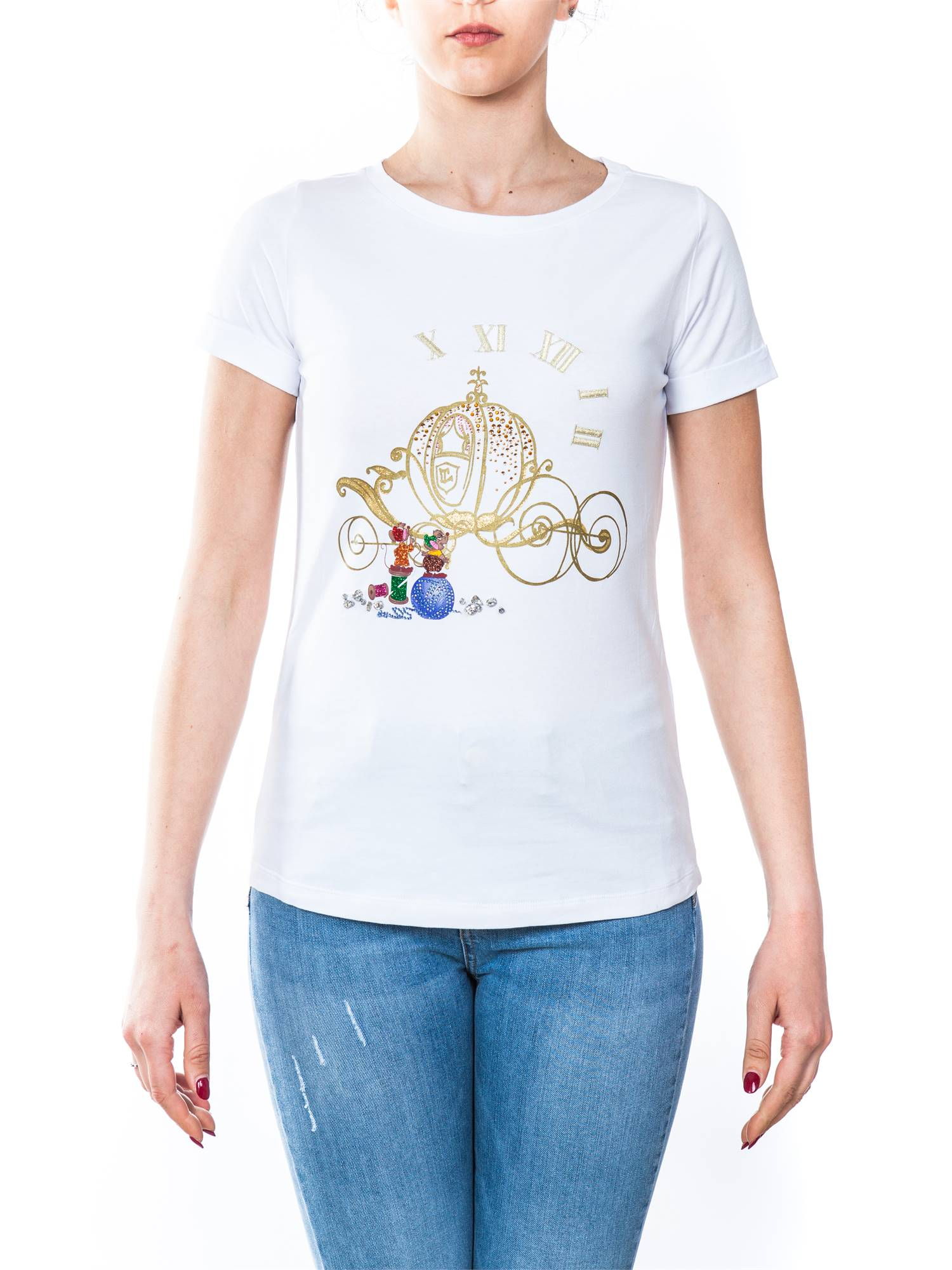ea6fb9a94838 Liu Jo C18236J7954-V9282 Bianco Abbigliamento Donna T-shirt Donna lightbox  · lightbox