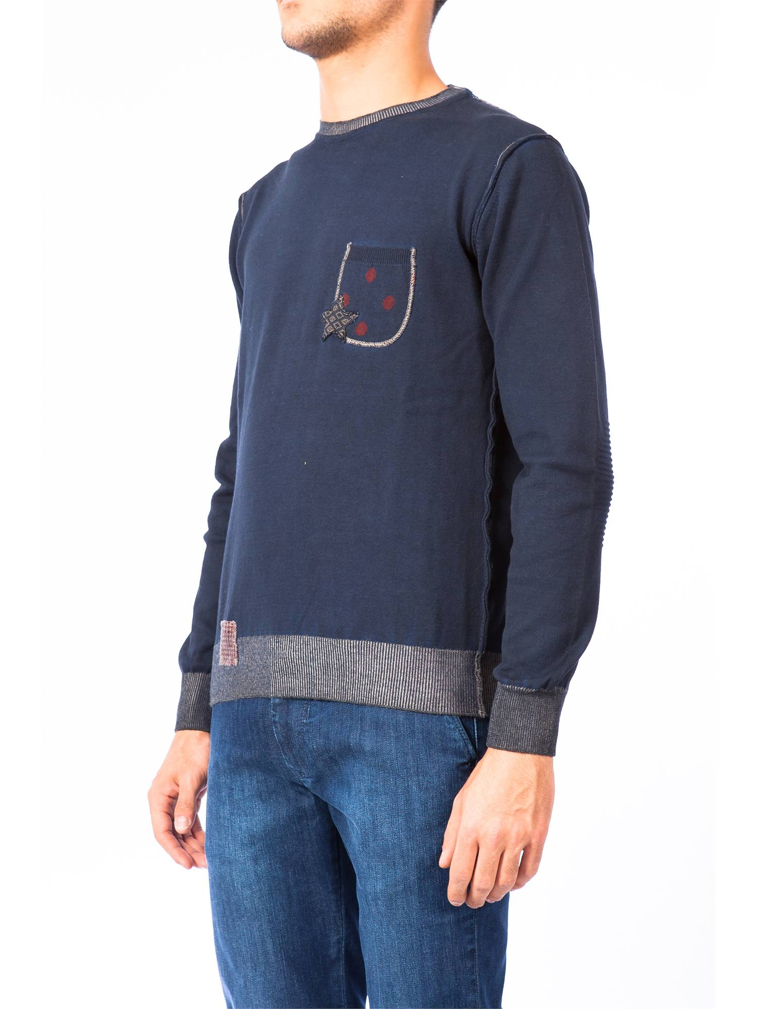Bob ASPES UNI BLU Blu Blu Blu Maglia Uomo Uomo Autunno Inverno 941a58